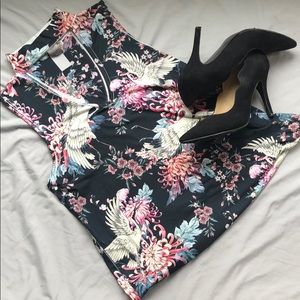 Beautiful Flowers and Birds Design Blouse